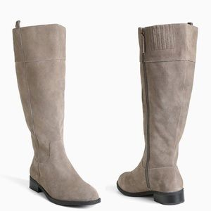 NEW Torrid Taupe Suede Leather Knee Boots Size 9W